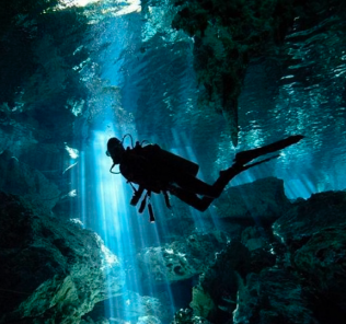 Diver Caving
