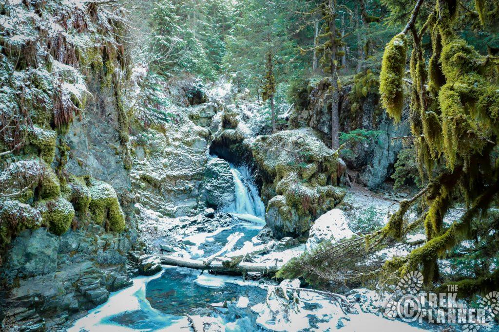 Virgin Creek Falls - Girdwood Alaska